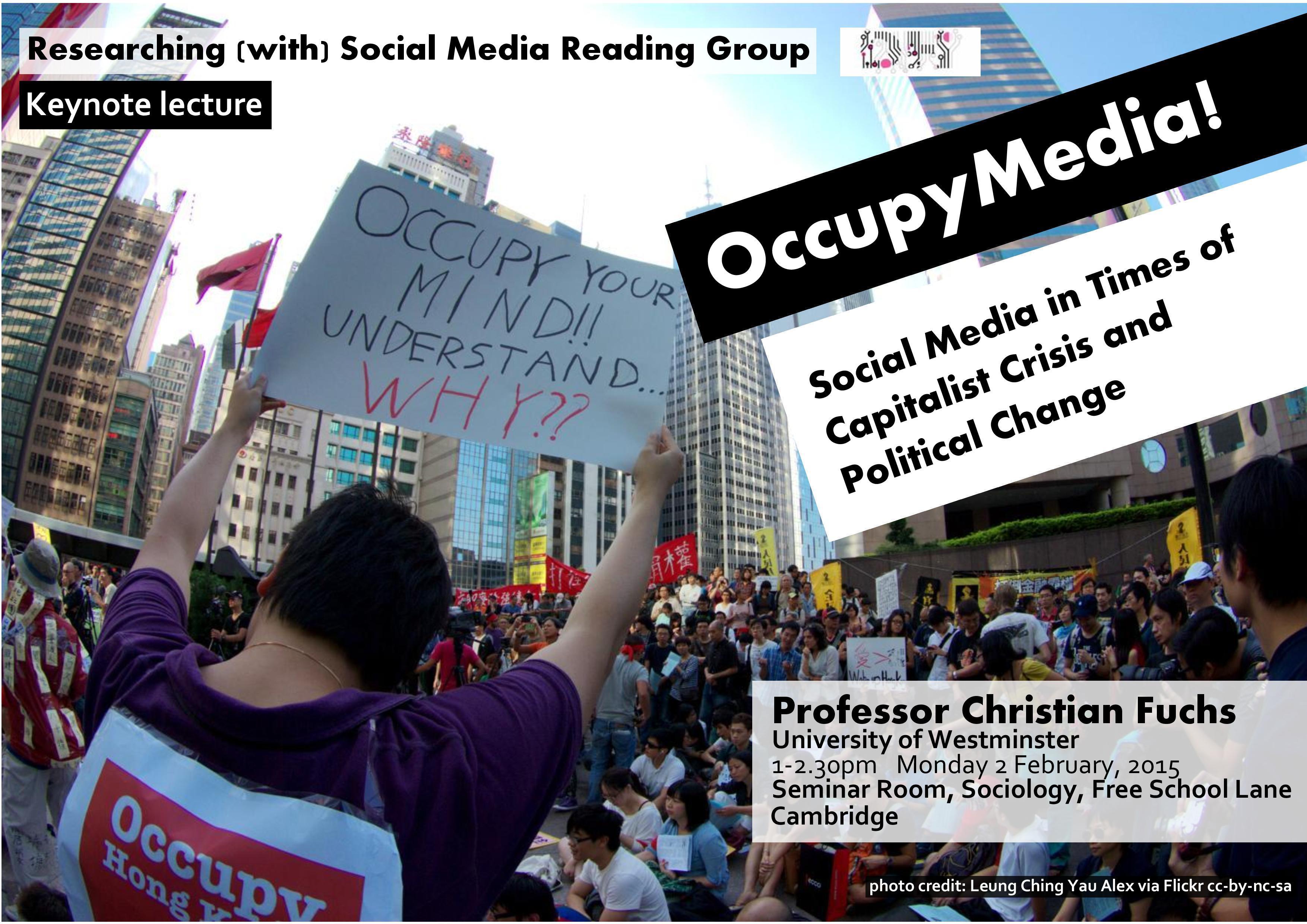 Christian Fuchs, 'OccupyMedia!', 2nd February 2015, 1pm