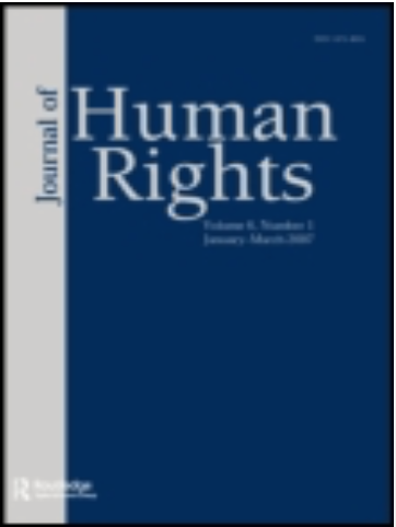 Article published in Journal of Human Rights