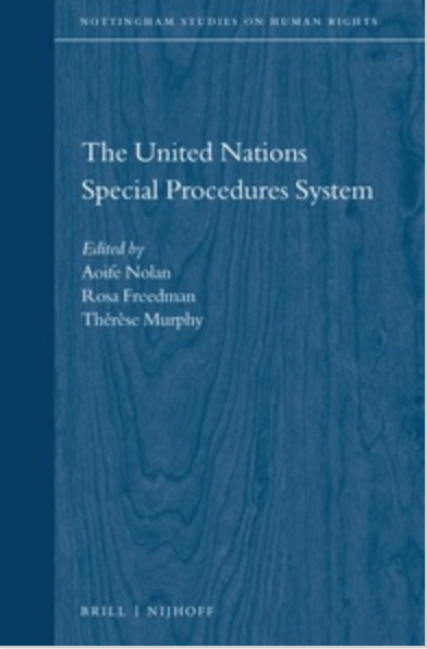 Co-authored chapter published on 'Special Procedures in the Digital Age'